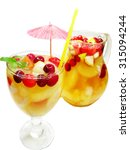 cocktail drink fruit punch with ... | Shutterstock . vector #315094244