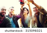 diverse people friends hanging... | Shutterstock . vector #315098321