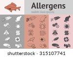 allergen set. fish  cat  insect ... | Shutterstock .eps vector #315107741
