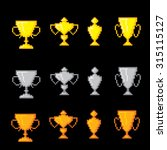 awards pixel icons set. old... | Shutterstock .eps vector #315115127