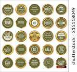 vector badges of golden set | Shutterstock .eps vector #315118049