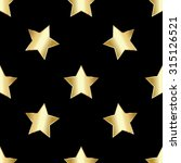 vector pattern with gold stars | Shutterstock .eps vector #315126521