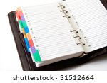 agenda with pages for telephone ... | Shutterstock . vector #31512664