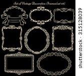 set of decorative vintage... | Shutterstock .eps vector #315128039