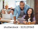 portrait of smiling colleague... | Shutterstock . vector #315129365