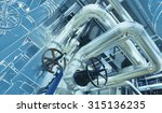 equipment  cables and piping as ... | Shutterstock . vector #315136235
