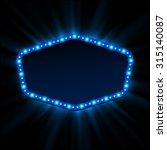 shining retro light banner. ... | Shutterstock .eps vector #315140087