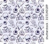 seamless halloween pattern.... | Shutterstock .eps vector #315140189