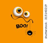 funny halloween greeting card... | Shutterstock .eps vector #315140219