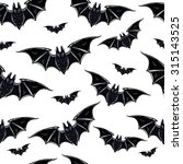 seamless halloween pattern.... | Shutterstock .eps vector #315143525