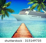 yacht cruise ship sea ocean... | Shutterstock . vector #315149735