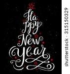 calligraphic christmas... | Shutterstock .eps vector #315150329