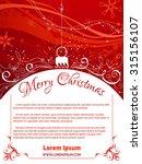 red christmas background....   Shutterstock .eps vector #315156107