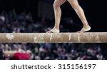 Gymnastic Feet On The Beam....