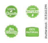 """set of four eco labels  """"100 ... 