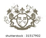 grunge heraldic shield with... | Shutterstock .eps vector #31517902