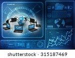 computer network | Shutterstock . vector #315187469