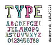 classical hand drawn serif font ... | Shutterstock .eps vector #315197225