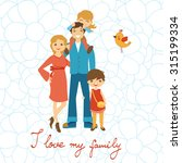 happy family illustration.... | Shutterstock .eps vector #315199334