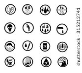 flat black   white icons about... | Shutterstock .eps vector #315212741