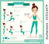 sport and fitness infographics. ... | Shutterstock .eps vector #315213479
