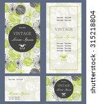 set of invitation cards   Shutterstock .eps vector #315218804