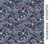 vintage floral seamless pattern ... | Shutterstock .eps vector #315224741