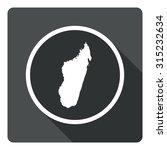 madagascar map dark sign icon....