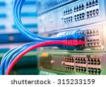 network cables connected to... | Shutterstock . vector #315233159
