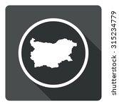 bulgaria map dark sign icon....