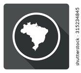 brazil map dark sign icon....