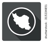 iran map dark sign icon....