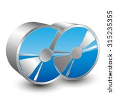 two cd icon | Shutterstock .eps vector #315235355
