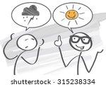 pessimist and optimist discuss  | Shutterstock .eps vector #315238334