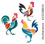 stylized rooster | Shutterstock .eps vector #315238814