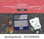 attention. never be satisfied... | Shutterstock .eps vector #315249041