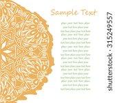 floral decor. template frame...   Shutterstock . vector #315249557