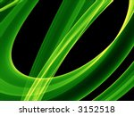 Glowing Green Curves   Abstrac...