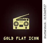 classic 80s boombox. gold flat... | Shutterstock . vector #315260927