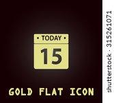 calendar. gold flat icon....