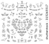 the set of hand drawn...   Shutterstock . vector #315265517