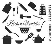 set of kitchen tools... | Shutterstock .eps vector #315269591