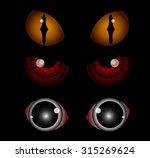 scary eyes  halloween... | Shutterstock .eps vector #315269624