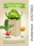 happy vegetable characters icon ... | Shutterstock .eps vector #315276821