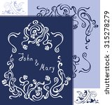 wedding invitation cards with... | Shutterstock .eps vector #315278279