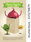 happy vegetable characters icon ... | Shutterstock .eps vector #315278879