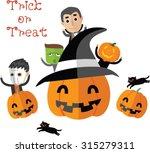 happy halloween vector    Shutterstock .eps vector #315279311