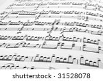 fragment of the musical score ...   Shutterstock . vector #31528078