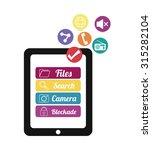 mobile applications shop... | Shutterstock .eps vector #315282104