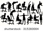 silhouette of business woman... | Shutterstock .eps vector #315283004